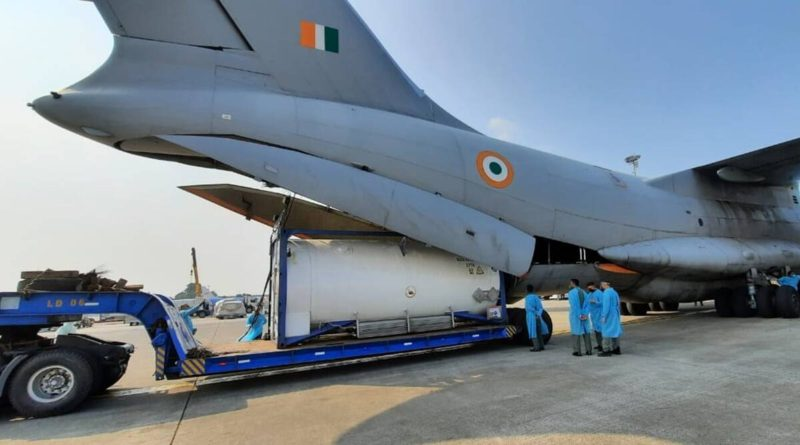 Indian Air Force steps up efforts to airlift oxygen containers